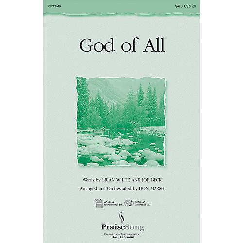 Hal Leonard God of All SATB arranged by Don Marsh