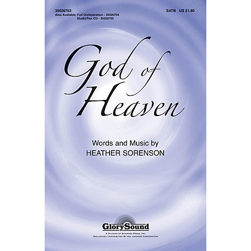 Shawnee Press God of Heaven Studiotrax CD Composed by Heather Sorenson-thumbnail