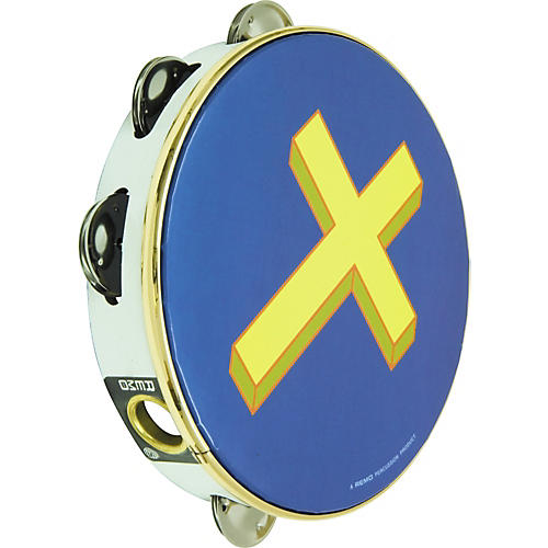Rhythm Band Gold Cross Tambourine