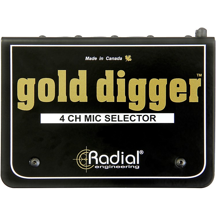 Radial EngineeringGold Digger 4-Channel Mic Selector