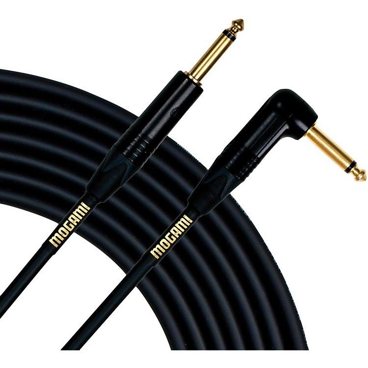 Mogami Gold Instrument Cable Angled - Straight Cable  25 Foot