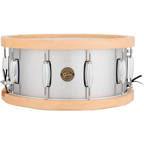 Gretsch Drums Gold Series Aluminum/Maple Snare Drum 14X6.5 Wood Hoop