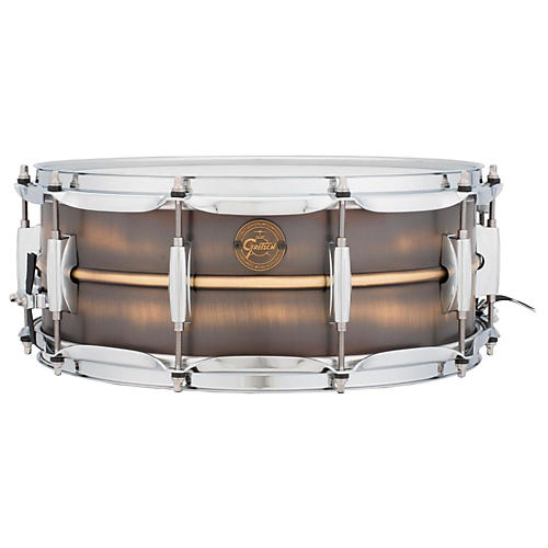 Gretsch Drums Gold Series Brushed Brass Snare Drum-thumbnail