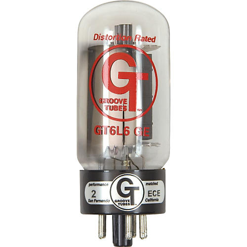 Groove Tubes Gold Series GT-6L6-GE Matched Power Tubes Medium (4-7Rating) Duet
