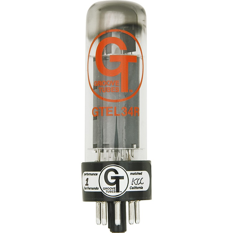 Groove Tubes Gold Series GT-EL34-R Matched Power Tubes High (8-10 GT Rating) Quartet