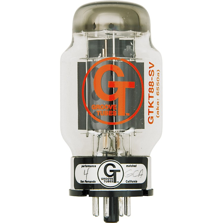 Groove Tubes Gold Series GT-KT88-SV Matched Power Tubes Medium (4-7 GT Rating) Duet
