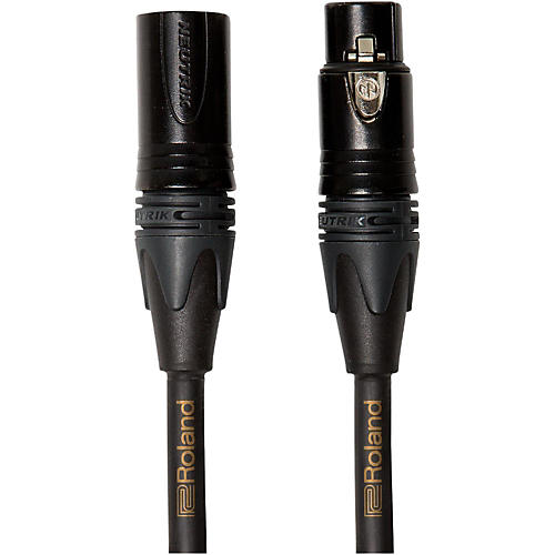 Roland Gold Series Microphone Cable 10 ft. Black