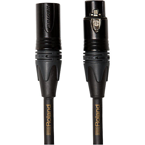 Roland Gold Series Microphone Cable 15 ft. Black