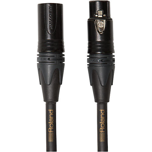 Roland Gold Series Microphone Cable 50 ft. Black