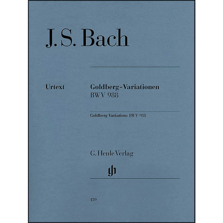 G. Henle Verlag Goldberg Variations BWV 988 By Bach
