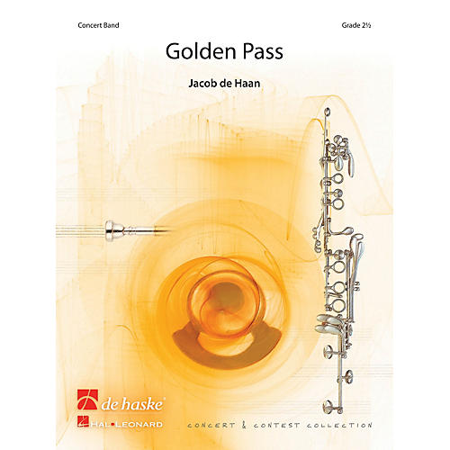 De Haske Music Golden Pass Concert Band Level 3 Composed by Jacob de Haan-thumbnail