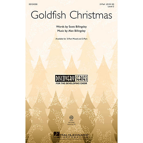 Hal Leonard Goldfish Christmas (Discovery Level 2) 2-Part composed by Alan Billingsley-thumbnail