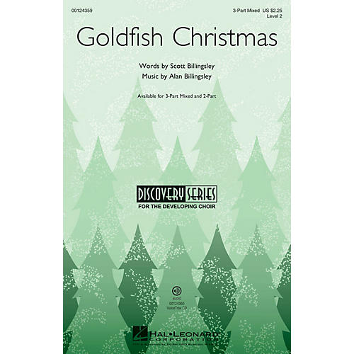 Hal Leonard Goldfish Christmas (Discovery Level 2) 3-Part Mixed composed by Alan Billingsley