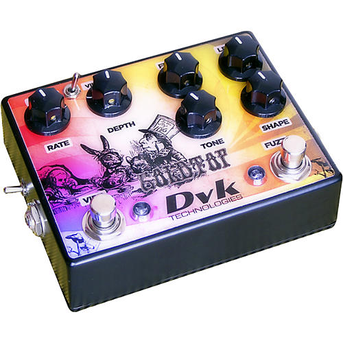 DVK Goldtop Fuzz and Vibe Guitar Effects Pedal