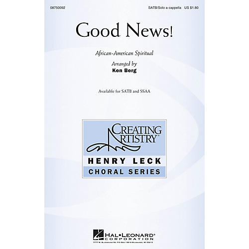 Hal Leonard Good News! SATB and Solo A Cappella arranged by Ken Berg-thumbnail