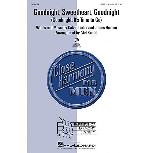 Hal Leonard Goodnight, Sweetheart, Goodnight (Goodnight, It's Time to Go) VoiceTrax CD Arranged by Mel Knight-thumbnail