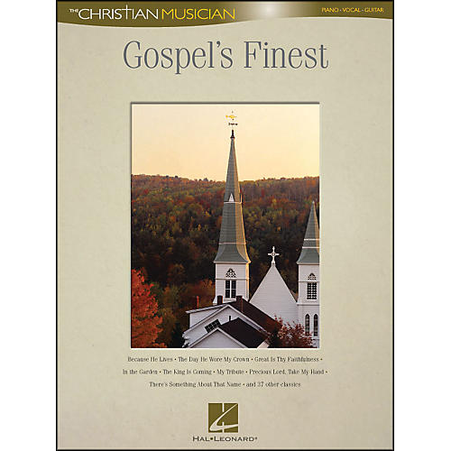 Hal Leonard Gospel's Finest - The Christian Musician arranged for piano, vocal, and guitar (P/V/G)-thumbnail