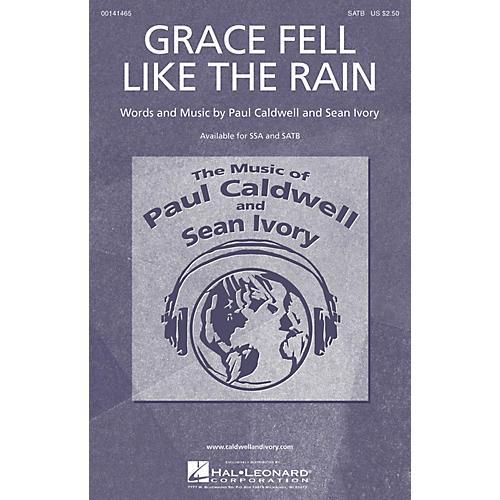Caldwell/Ivory Grace Fell Like the Rain SATB composed by Paul Caldwell-thumbnail