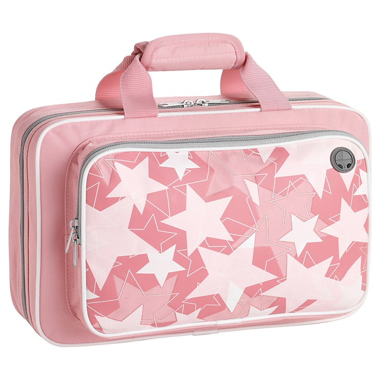 KacesGrafix Pink Stars Series Polyfoam Clarinet Case