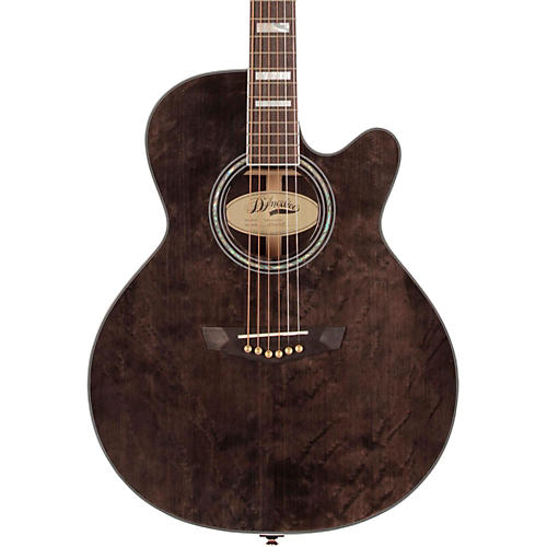 D'Angelico Gramercy Sitka Grand Auditorium Cutaway Acoustic-Electric Guitar Gray-Black