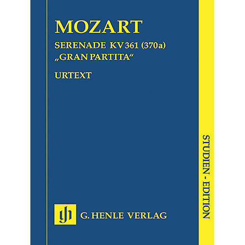 G. Henle Verlag Gran Partita Bb Major K361 (Study Score) Henle Study Scores Series Softcover by Wolfgang Amadeus Mozart-thumbnail