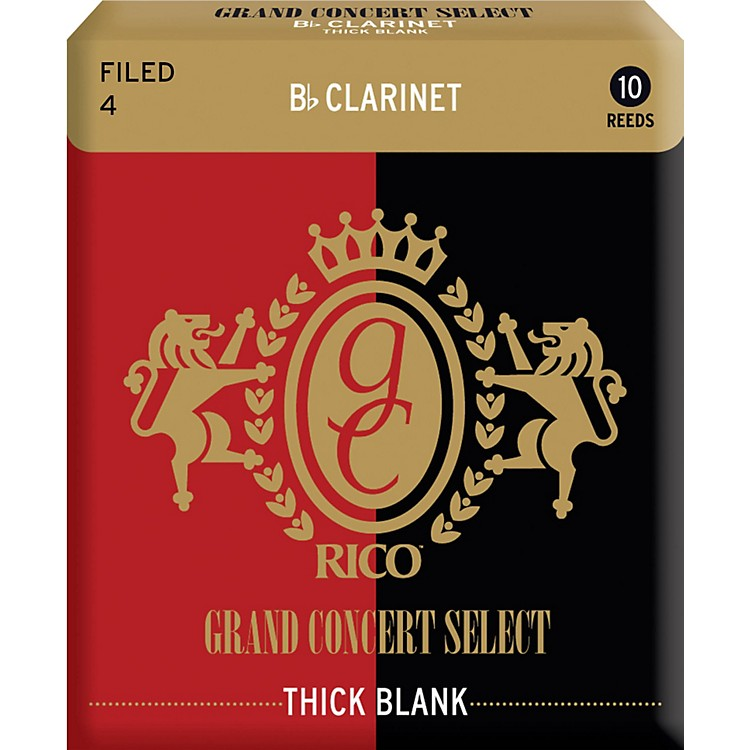 Rico Grand Concert Select Thick Blank Bb Clarinet Reeds Strength 3 Box of 10