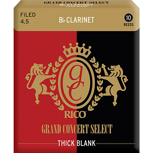 Rico Grand Concert Select Thick Blank Bb Clarinet Reeds Strength 4.5 Box of 10