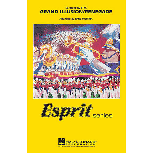 Hal Leonard Grand Illusion/Renegade (Recorded by Styx) Marching Band Level 3 Arranged by Paul Murtha-thumbnail