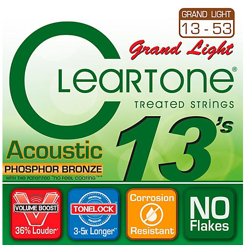 Cleartone Grand Light Phosphor Bronze Acoustic Guitar Strings (13-53)-thumbnail
