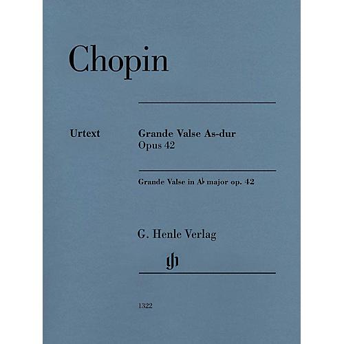 G. Henle Verlag Grande Valse A-flat Major Op. 42 (Edition with Fingering) Henle Music Folios Series Softcover-thumbnail