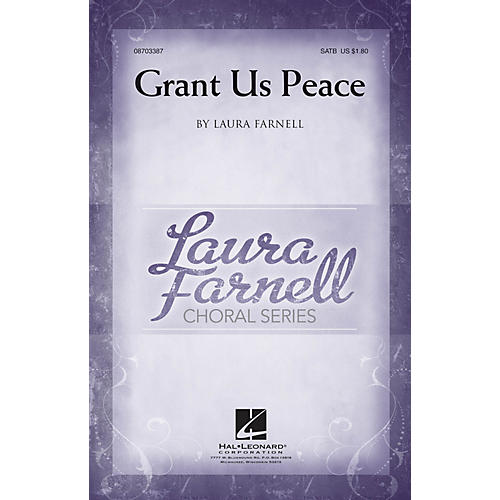 Hal Leonard Grant Us Peace SATB composed by Laura Farnell-thumbnail