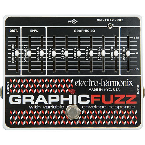 Electro-Harmonix Graphic Fuzz XO Fuzz Guitar Effects Pedal