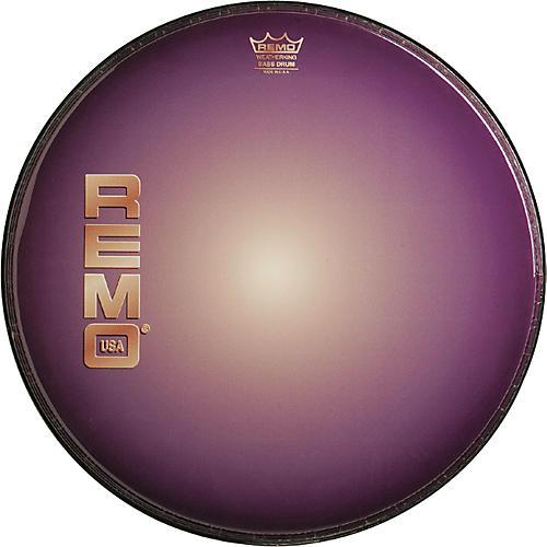 Remo Graphic Heads Purple Sunburst Resonant Bass Drum Head  22 Inches