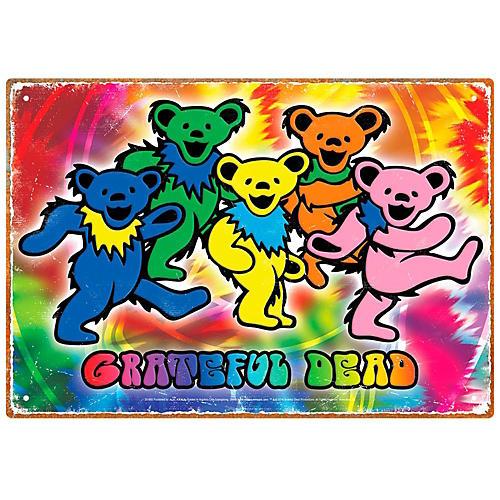 Hal Leonard Grateful Dead Bears Tin Sign-thumbnail
