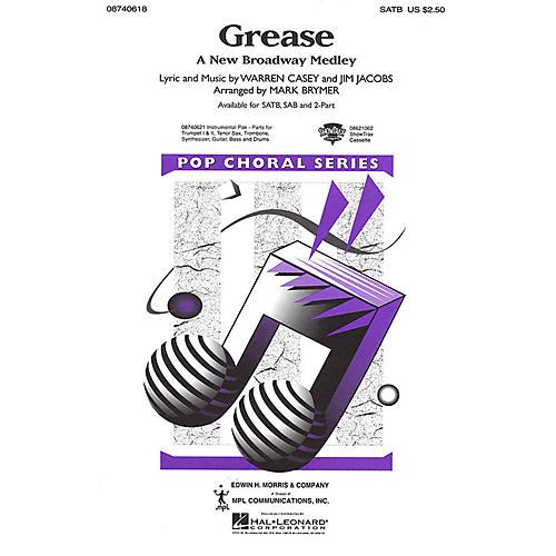 Hal Leonard Grease (A New Broadway Medley) SATB arranged by Mark Brymer-thumbnail