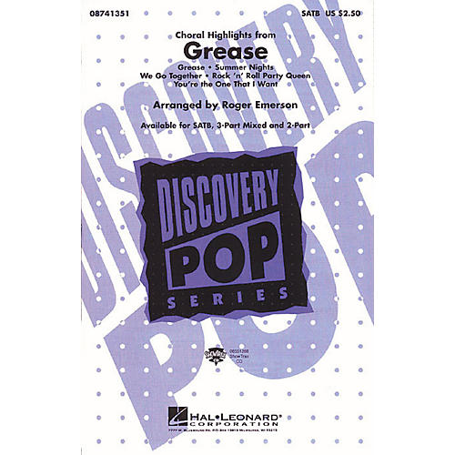 Hal Leonard Grease (Choral Highlights) SATB arranged by Roger Emerson