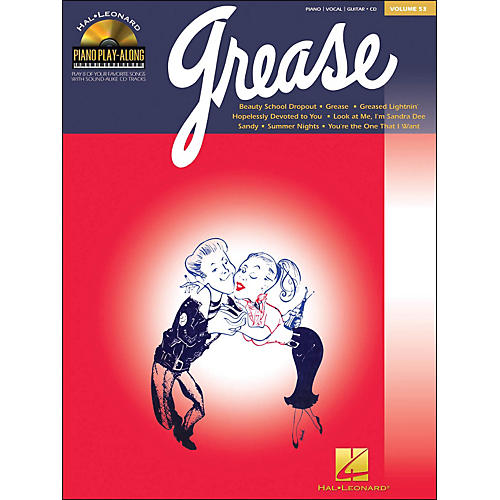 Hal Leonard Grease Piano Play-Along Volume 53 Book/CD arranged for piano, vocal, and guitar (P/V/G)