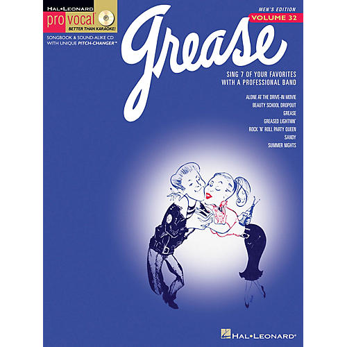 Hal Leonard Grease (Pro Vocal Men's Edition Volume 32) Pro Vocal Series Softcover with CD Composed by Various-thumbnail