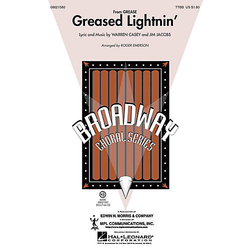 Hal Leonard Greased Lightnin' (from Grease) TTBB arranged by Roger Emerson