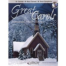 Curnow Music Great Carols (Bb Clarinet/Bb Bass Clarinet/Bb Tenor Saxophone - Grade 3-4) Concert Band Level 3-4