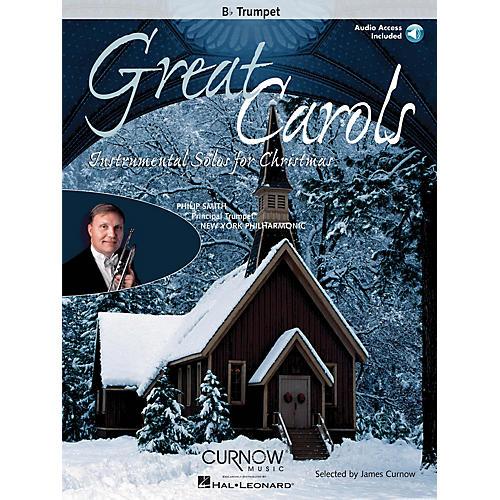 Curnow Music Great Carols (Bb Trumpet - Grade 3-4) Concert Band Level 3-4-thumbnail