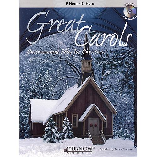 Curnow Music Great Carols (F/Eb Horn - Grade 3-4) Concert Band Level 3-4-thumbnail