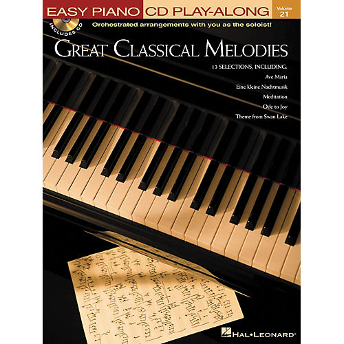 Hal Leonard Great Classical Melodies - Easy Piano CD Play-Along Volume 21 Book/CD