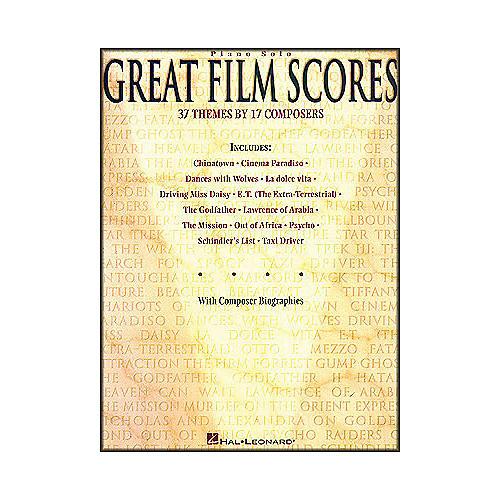 Hal Leonard Great Film Scores arranged for piano solo