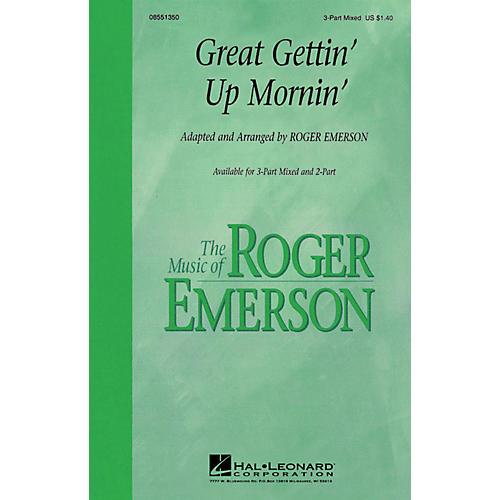 Hal Leonard Great Gettin' Up Mornin' 3-Part Mixed arranged by Roger Emerson-thumbnail