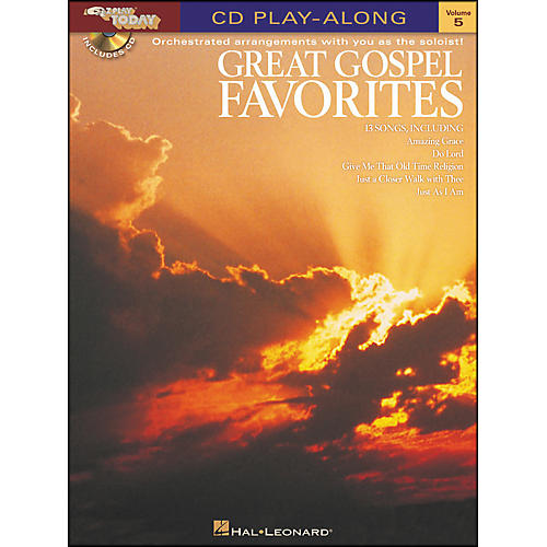 Hal Leonard Great Gospel Favorites E-Z Play Today CD Play Along Volume 5