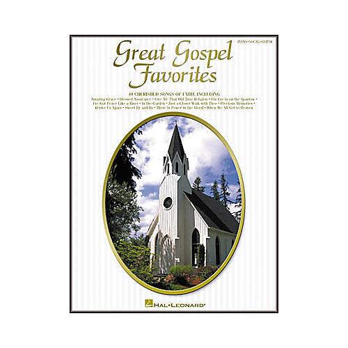 Hal Leonard Great Gospel Favorites Piano, Vocal, Guitar Songbook-thumbnail