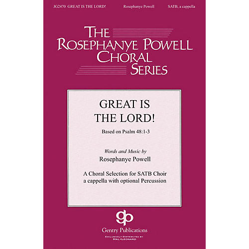 Gentry Publications Great Is the Lord SATB DV A Cappella composed by Rosephanye Powell-thumbnail