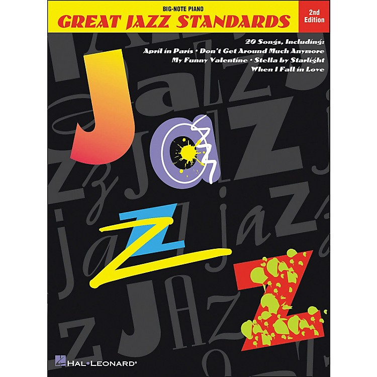 Hal Leonard Great Jazz Standards for Big Note Piano 2nd Edition