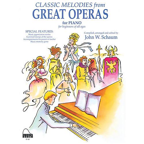 SCHAUM Great Operas Educational Piano Series Softcover